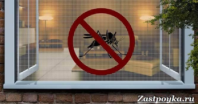 Защита от кровососущих насекомых с помощью противомоскитной сетки