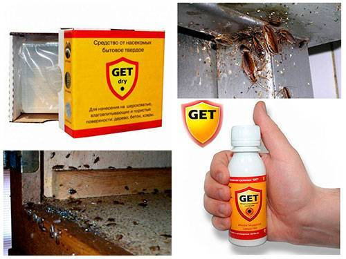 Правила применения средства get против тараканов