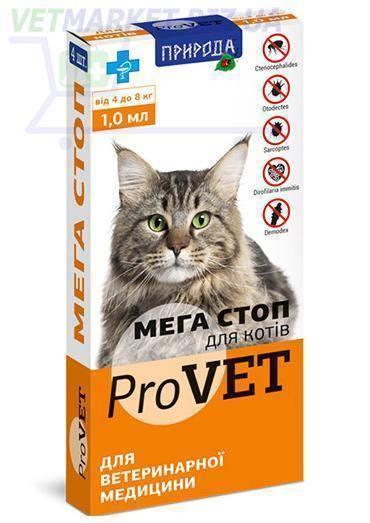 Средства и препараты от блох и от глистов для кошек