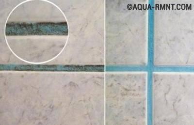 Как убрать плесень в ванной на швах плитки?