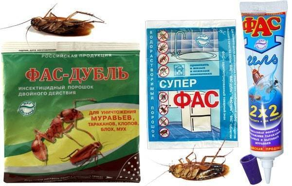 Средства ФАС от тараканов: таблетки, гель и порошок