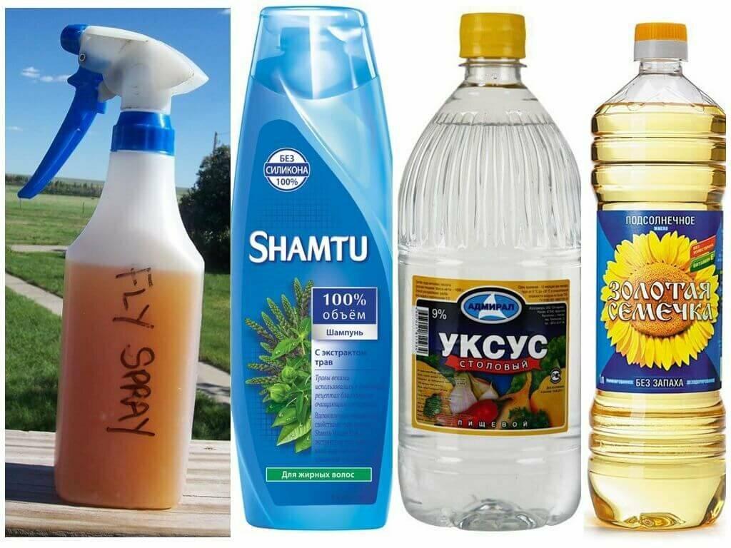 Народное средство от комаров своими руками: шампунь и уксус