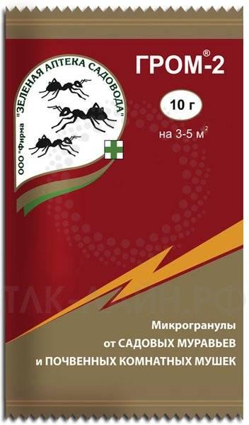 Как использовать препарат гром-2 от муравьев?