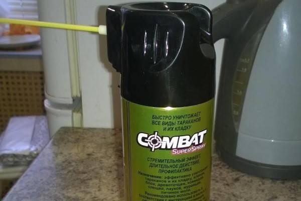 Как использовать аэрозоль «комбат» при борьбе с клопами?