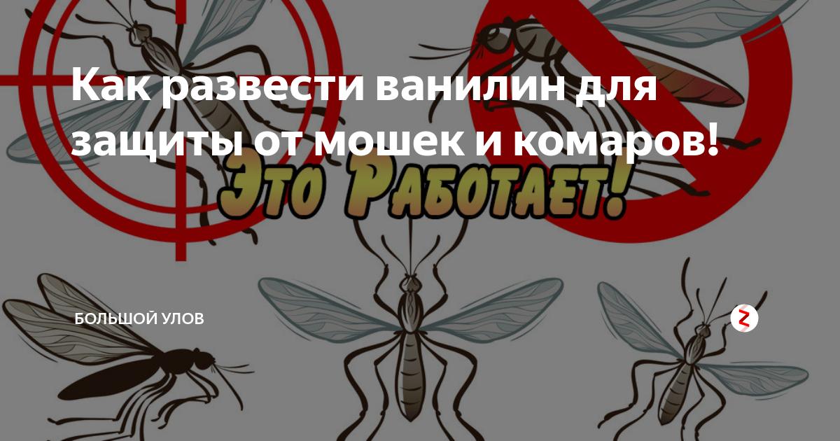 Ванилин — детское средство от комаров
