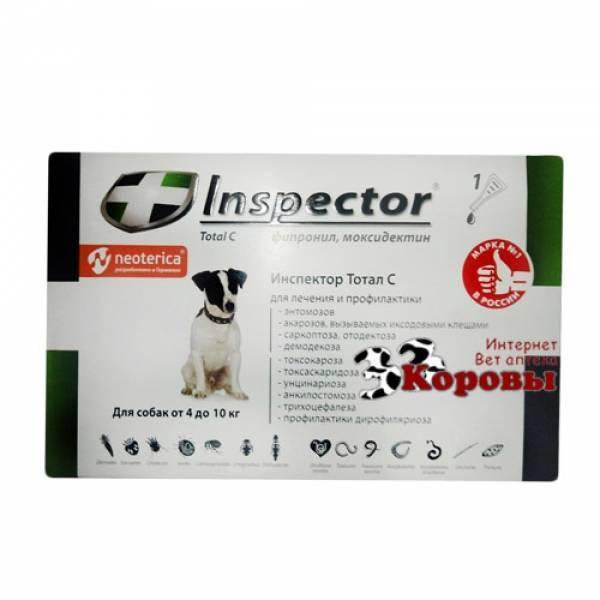 Инспектор капли для собак: инструкция по применению, отзывы