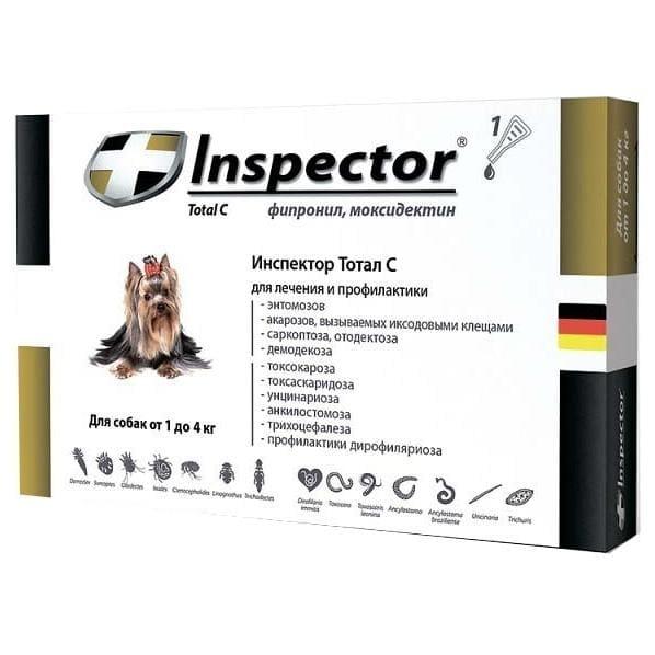 Инспектор капли для собак от блох, клещей и других паразитов