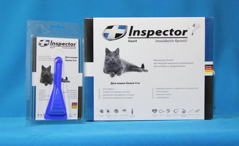 Капли инспектор для кошек инструкция