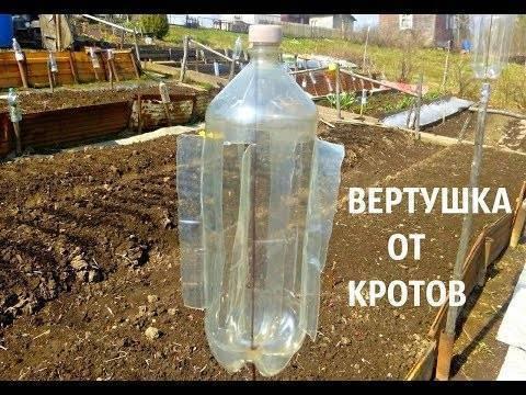 Отпугиватель кротов своими руками из пластиковых бутылок: пошаговая инструкция, схемы, фото