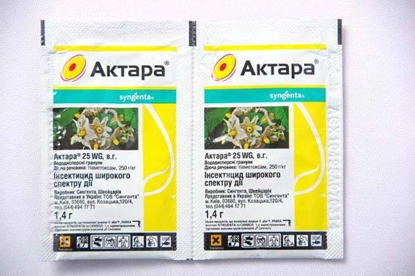 Актара — инструкция по применению для плодовых деревьев и кустарников