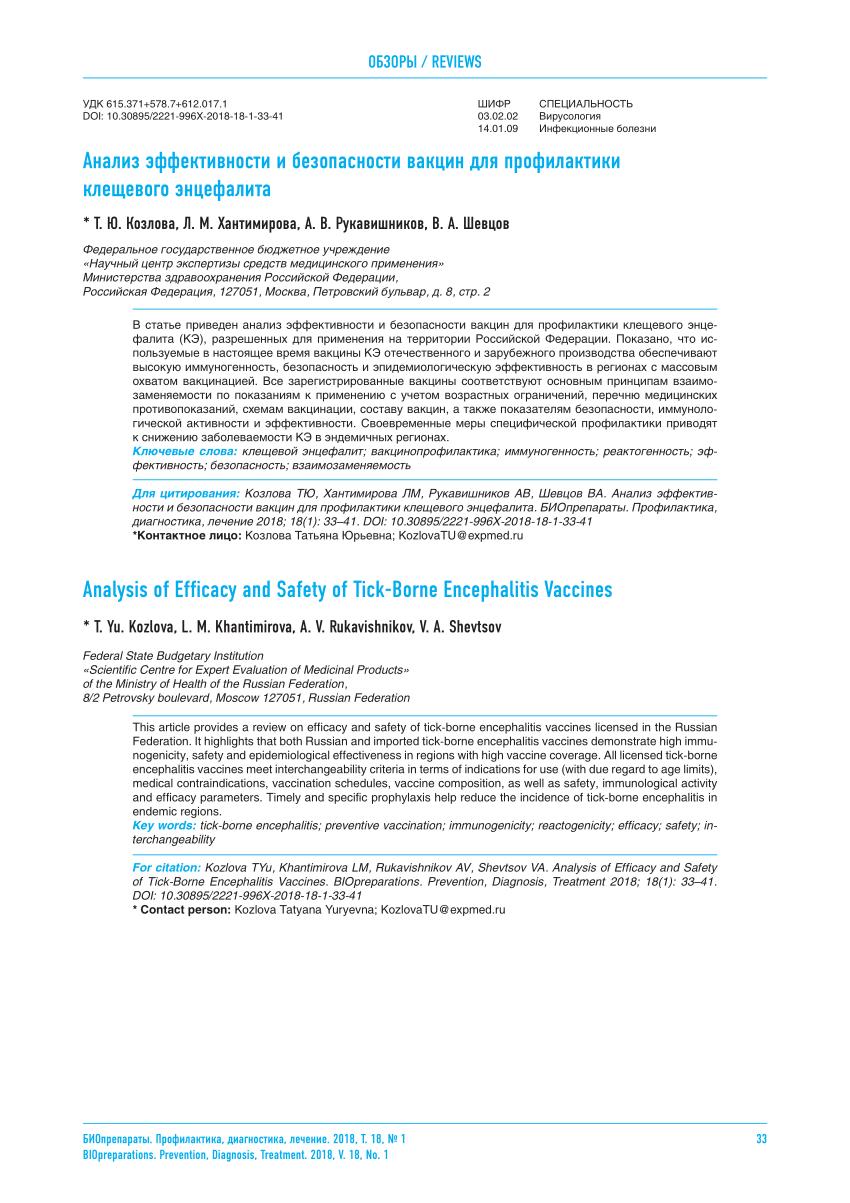 Вакцинация от клещевого энцефалита: когда ставить прививку, схема вакцинации и адреса в москве