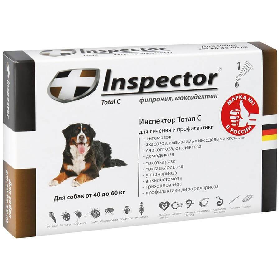 Капли инспектор для собак: инструкция по применению