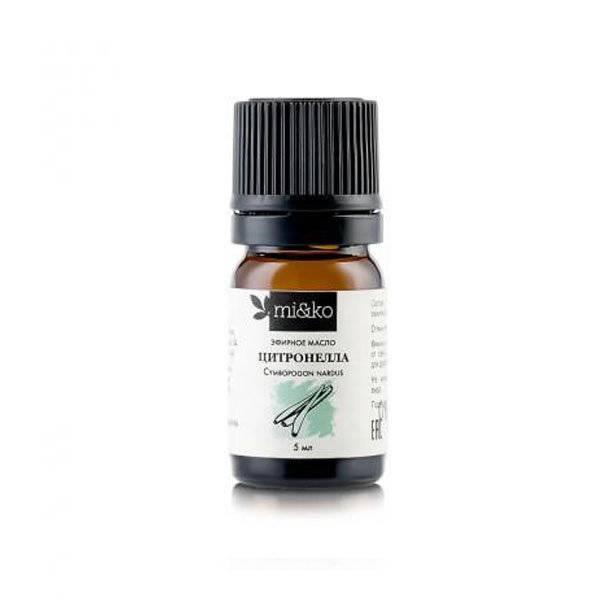 Эфирное масло цитронеллы как средство от комаров