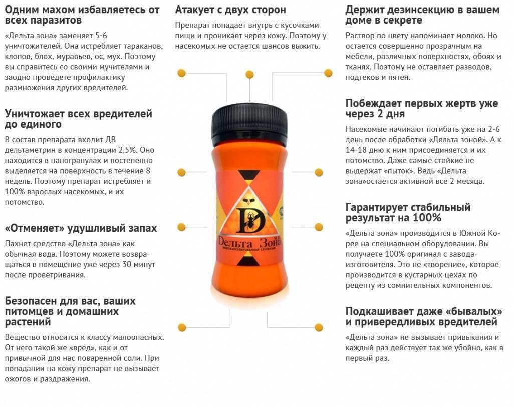 Обзор препарата против клопов дельта зона: инструкция по применению, отзывы