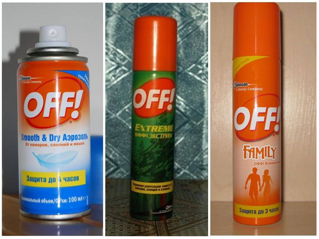Аэрозоль off от комаров
