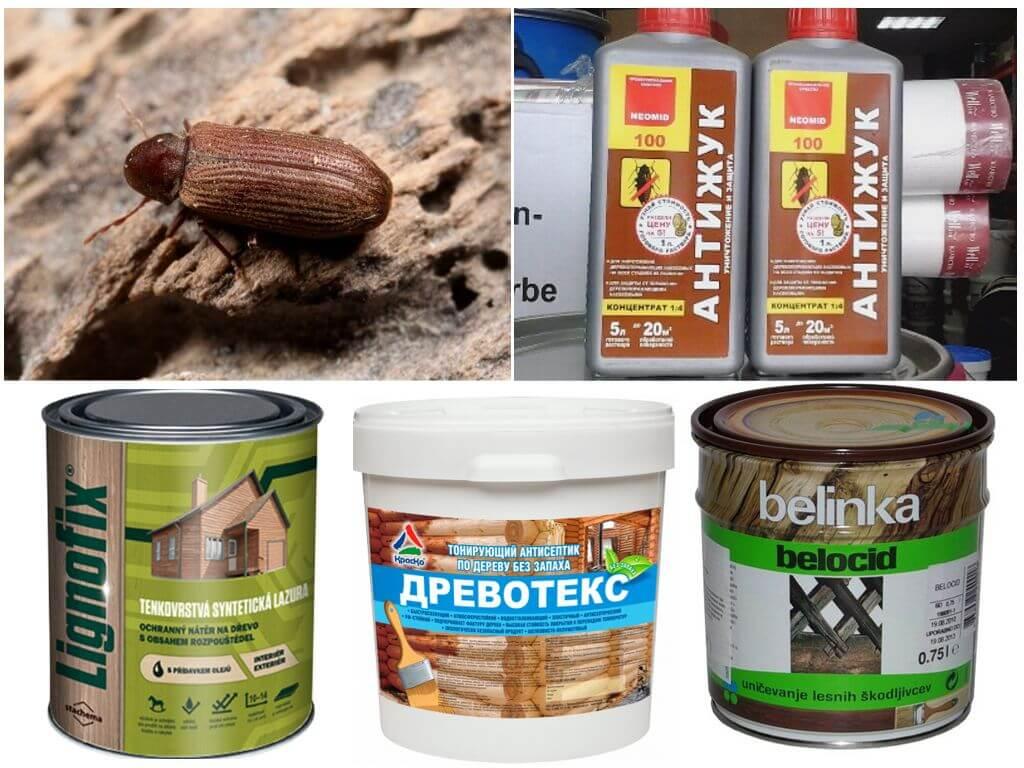 Препараты от шашеля: проверенные народные средства и промышленные растворы. шашель или жук — древоточец: фото насекомого, как распознать присутствие и как от него избавиться как вывести шашель из досок обрешетки потолка