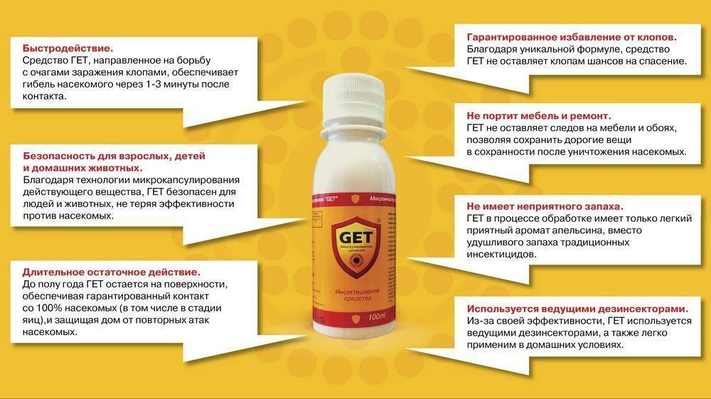 Средство от клопов гет (get): отзывы, где купить и цена на препарат