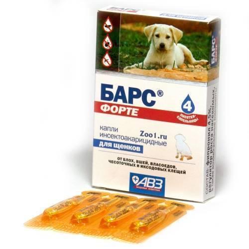 Капли барс для собак от блох и клещей: как применять
