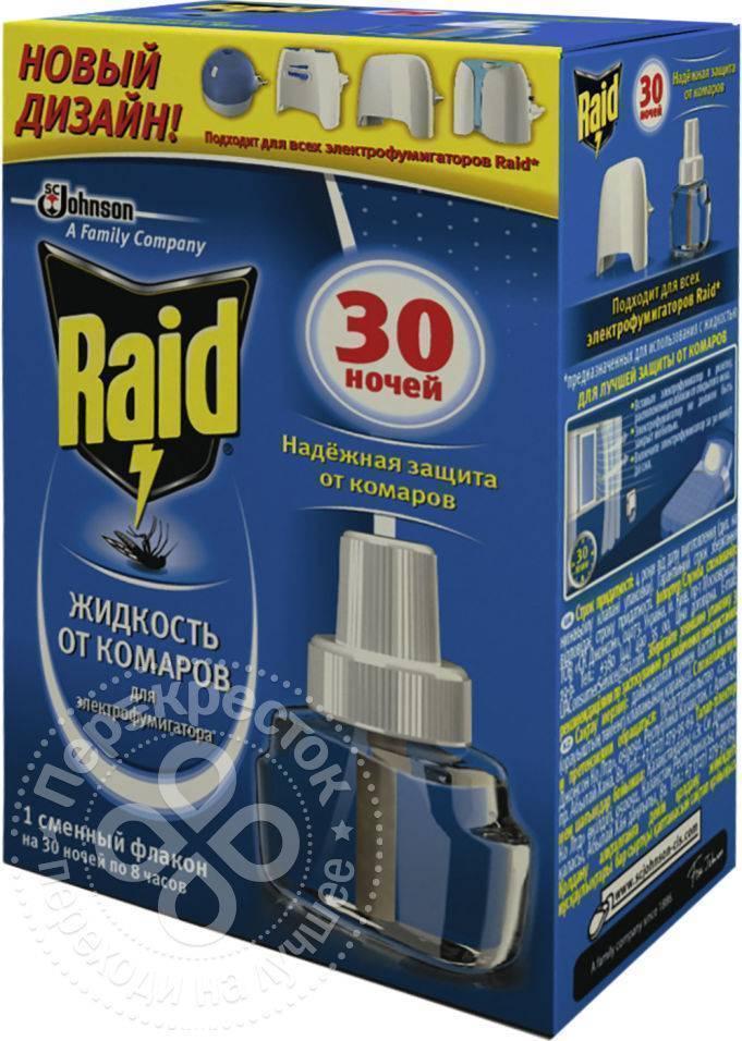 Купить пластина для фумигатора raid от комаров регулярные