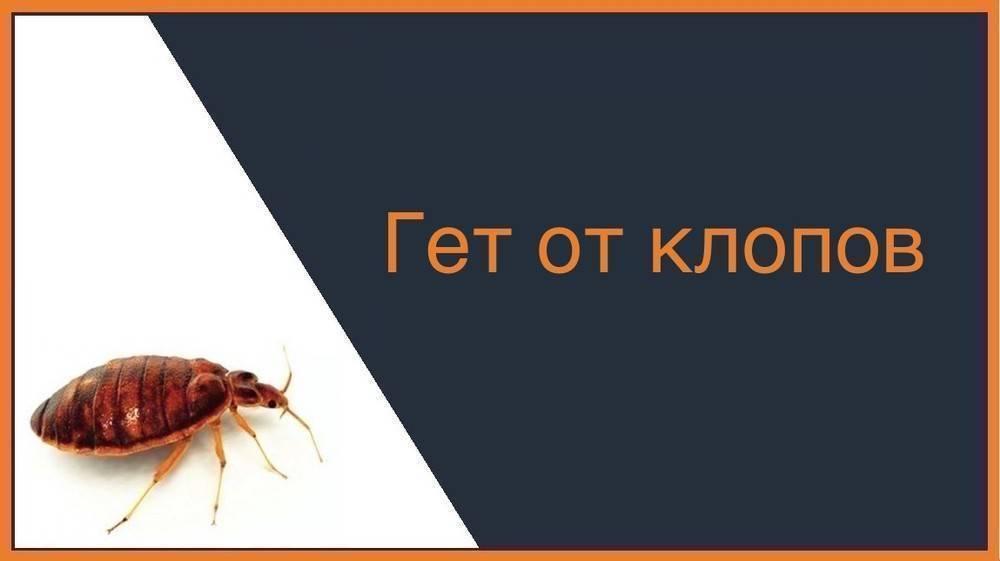 Обзор препарата гет (get) от клопов: инструкция по применению средства, отзывы