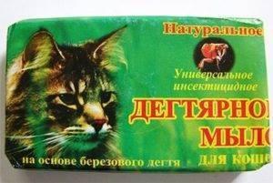 Дегтярное мыло от блох у кошек и собак: как применять и помогает ли оно?