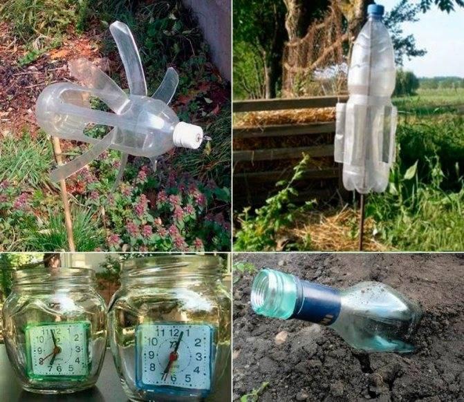 Как сделать отпугиватели кротов своими руками из пластиковых бутылок и других материалов