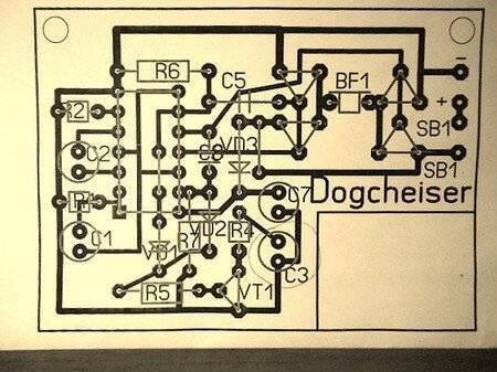 Отпугиватель грызунов электрическая схема, конструкция и печатная плата
